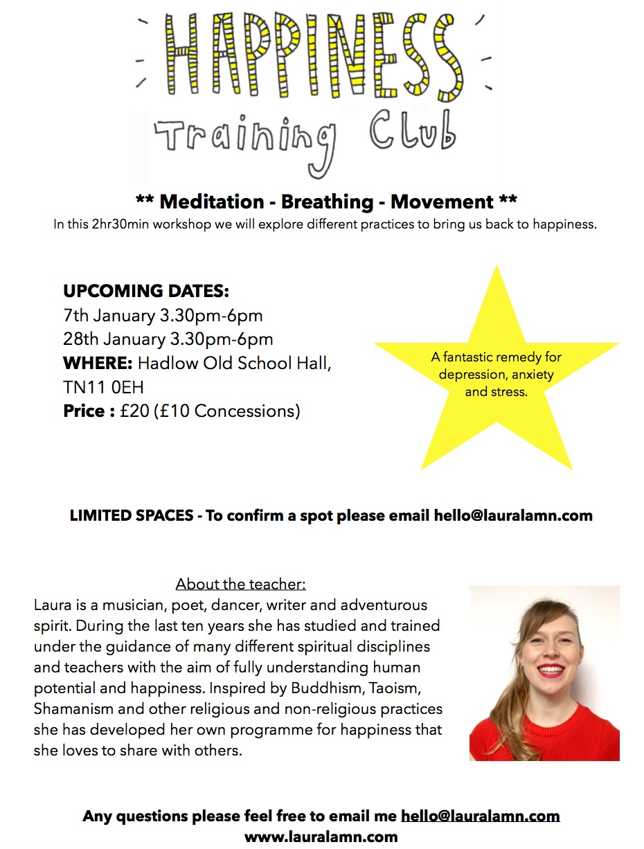 Happiness Training Club Poster