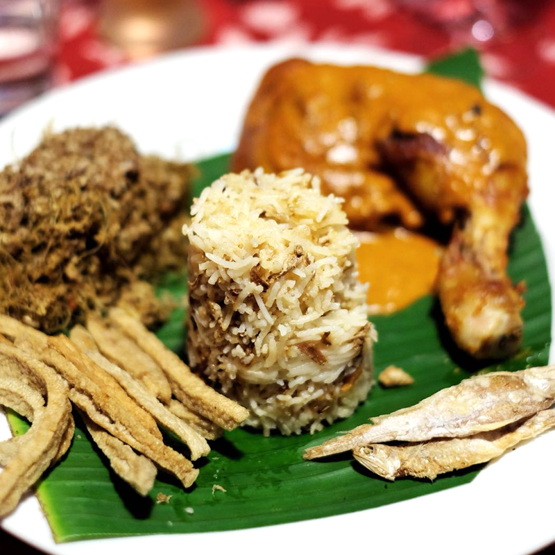 Main Course - Ayam Percik with Inderapura Rice