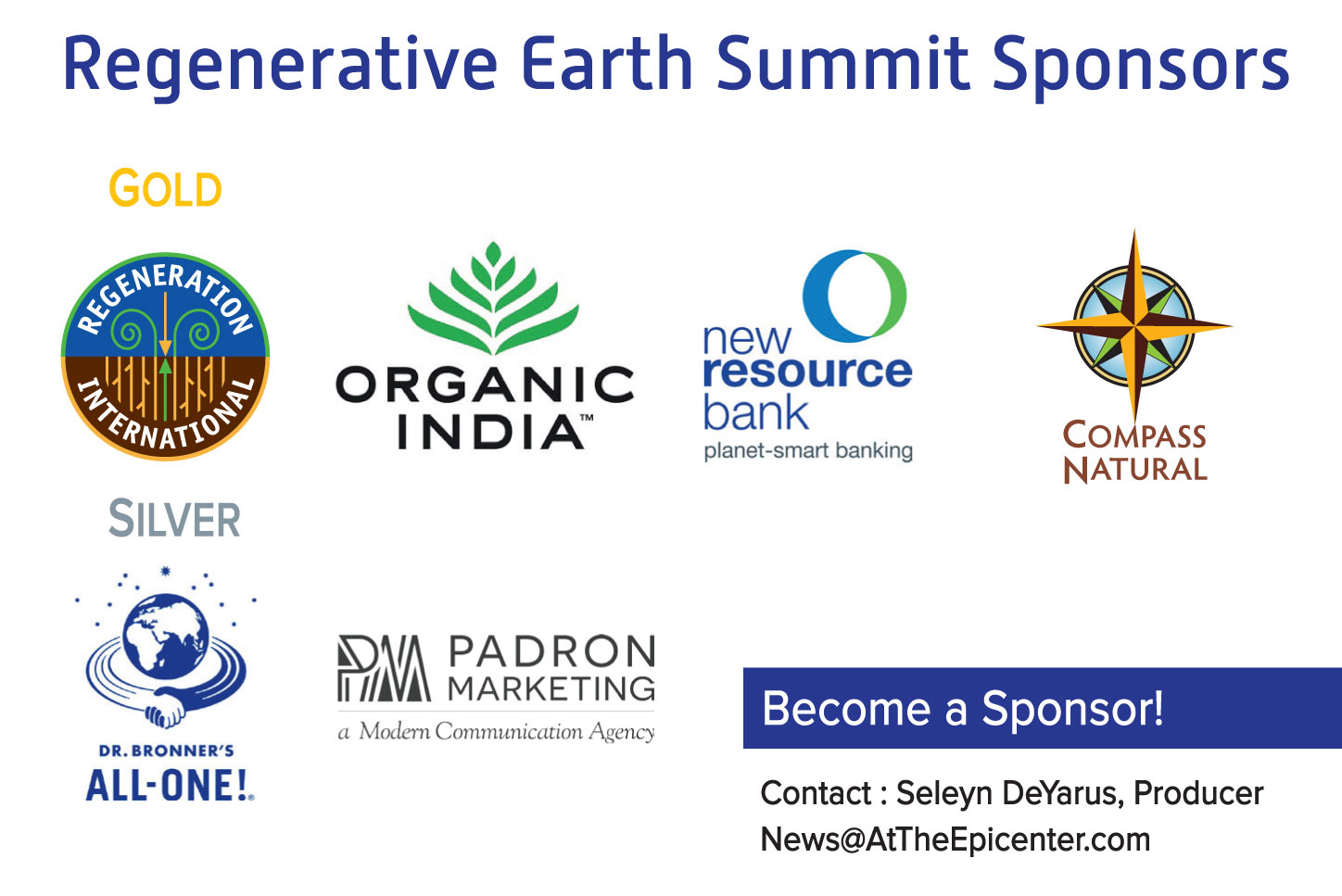 Regenerative Earth Summit sponsors