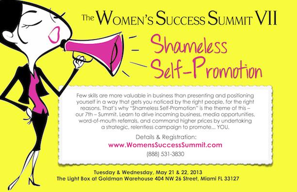 Women's Success Summit Flyer - www.WomensSuccessSummit.com