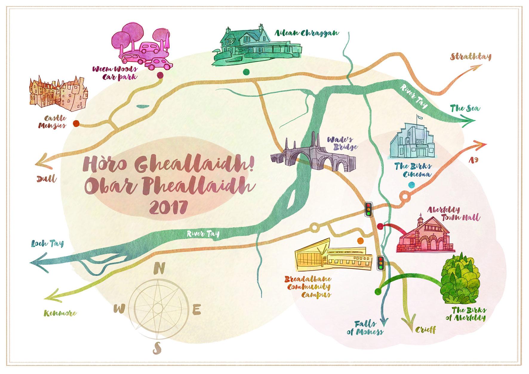 Horo Gheallaidh Map