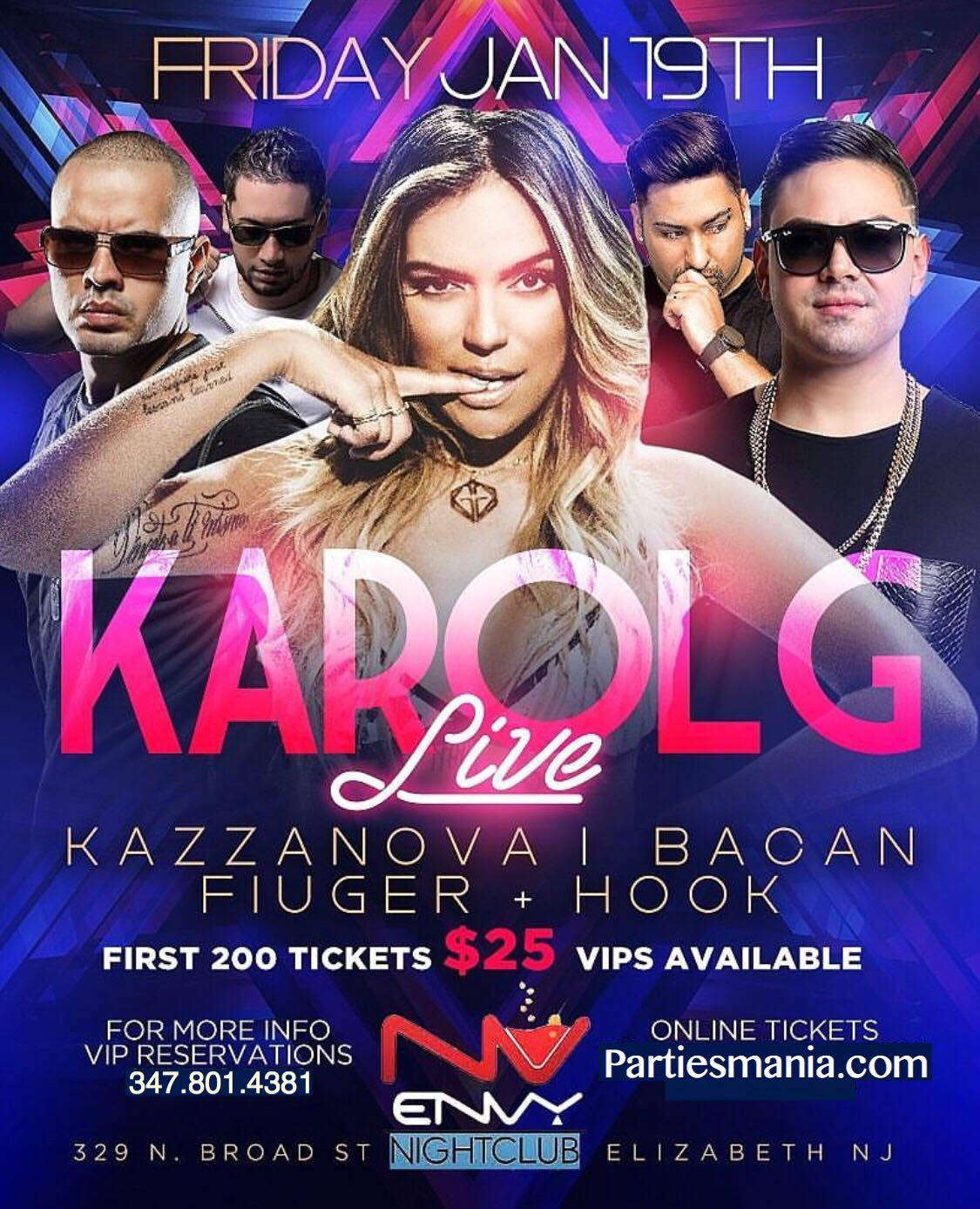 karol g live at envy nightclub