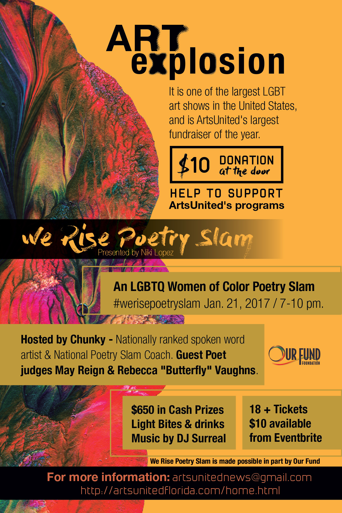 We Rise Poetry Slam flyer