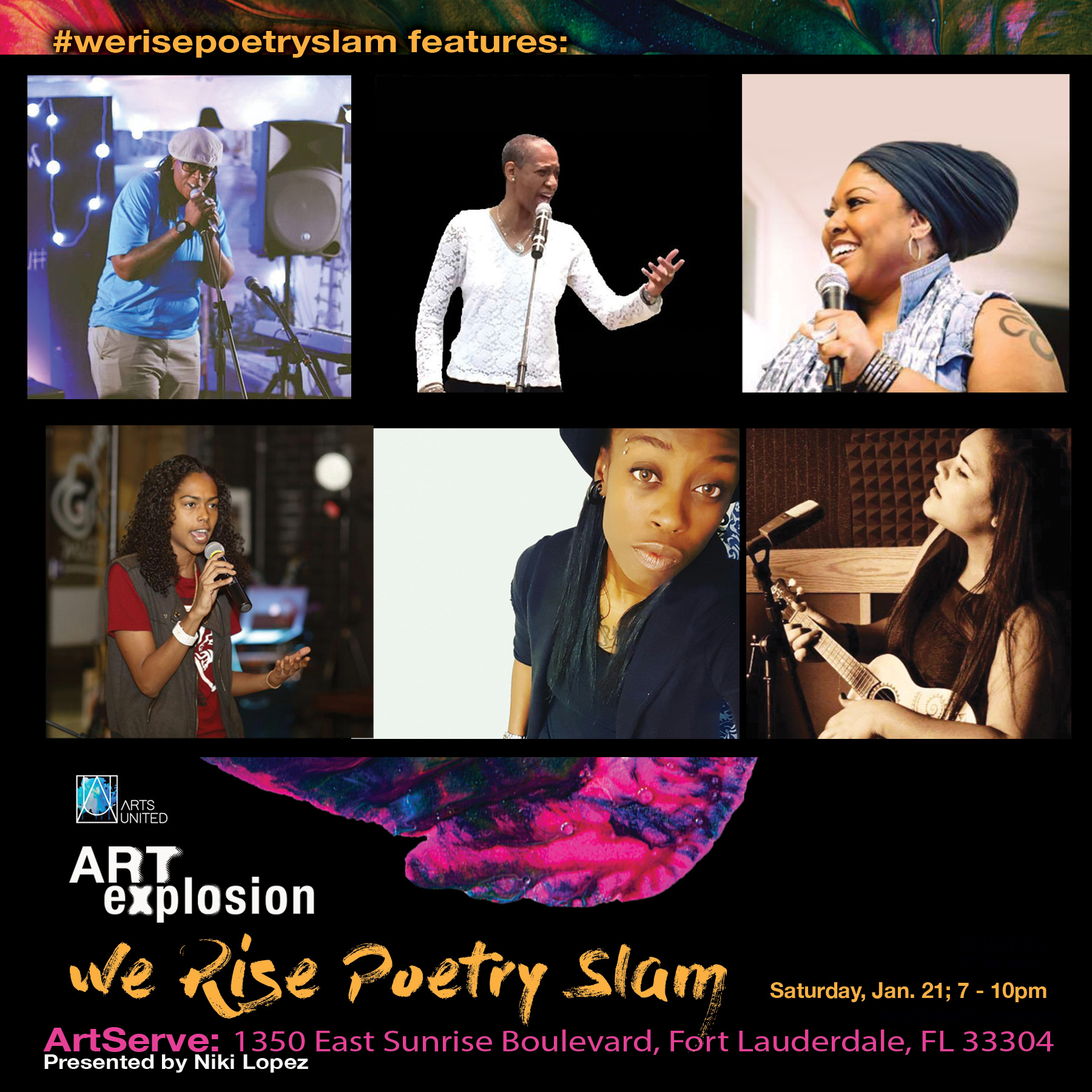 We Rise Poetry Line Up