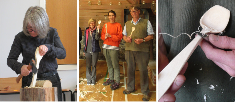 Spoon carving workshop in Manchester