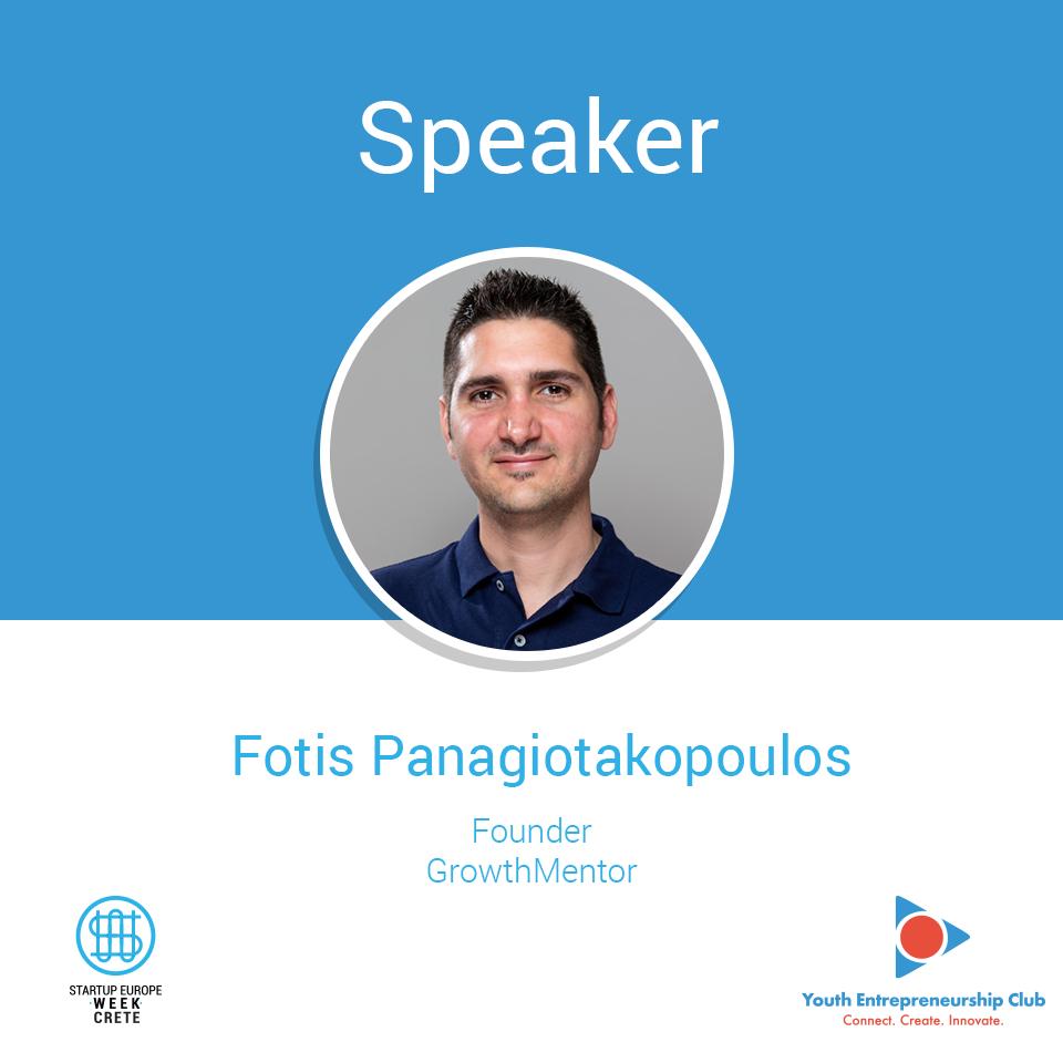Fotis Panagiotakopoulos, Startup Europe Week Crete