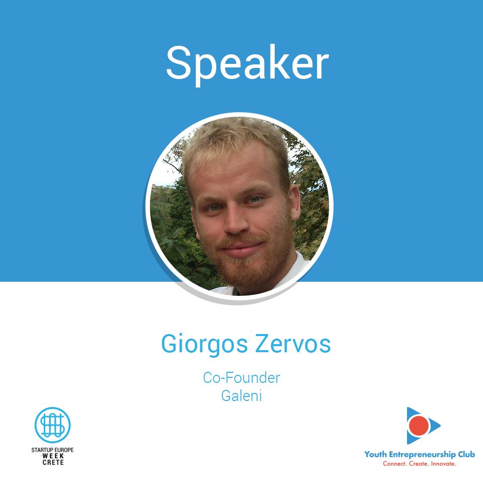 Giwrgos Zervos, Startup Europe Week Crete