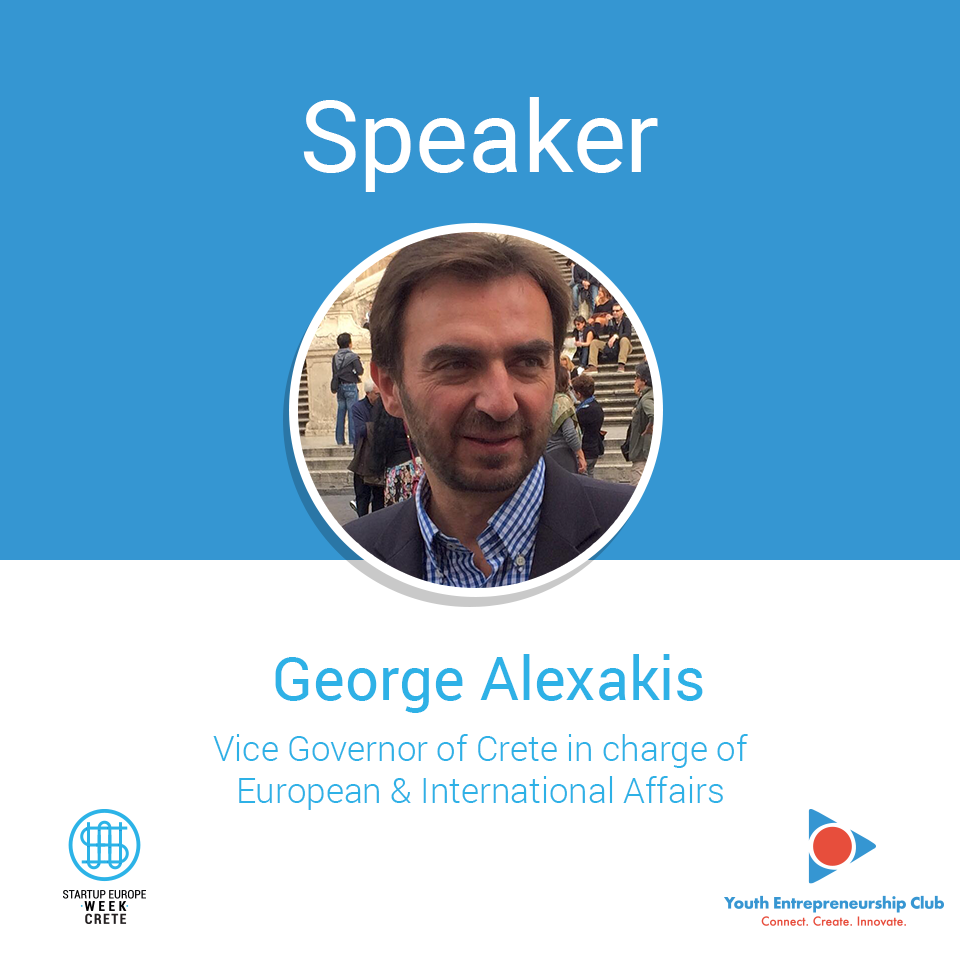 George-Alexakis-_-Vice-Governor-of-Crete in charge of European and Internaitional Affairs _ Speaker-@-Startup--Europe-Week-Crete-2018