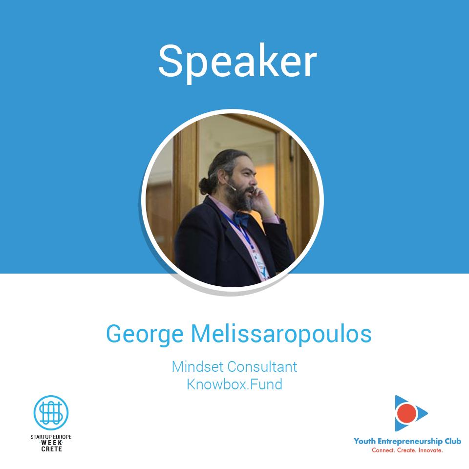George Melissaropoulos, Startup Europe Week Crete