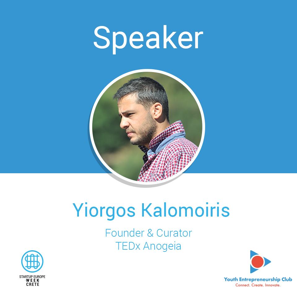 Giorgos (Yiorgos - George) Kalopoiris,-Founder-&-Curator-@-TEDxAnogeia-_-Speaker-@-Startup-Europe-Week-Crete,-Heraklion,-2018
