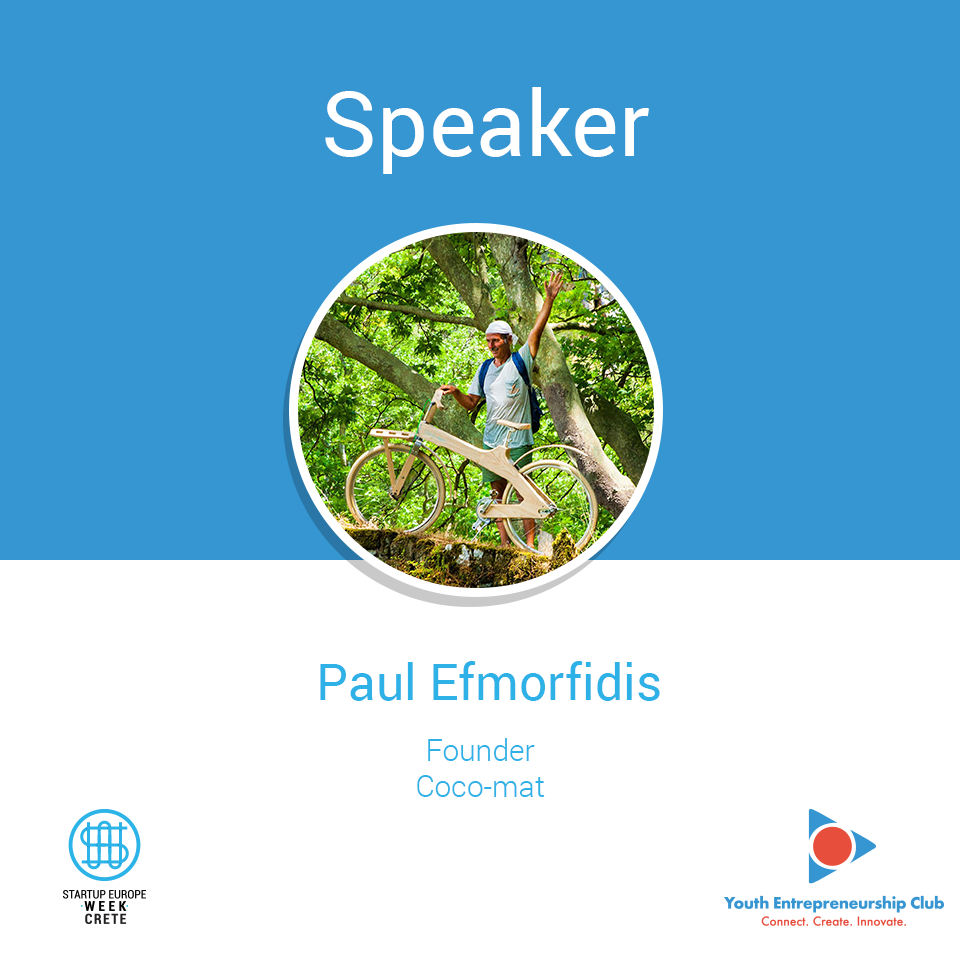 Paul Efmorfidis, Startup Europe Week Crete
