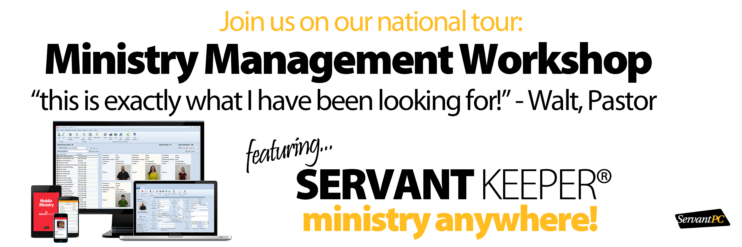 Servant Keeper How to Grow Ministry Workshop Banner