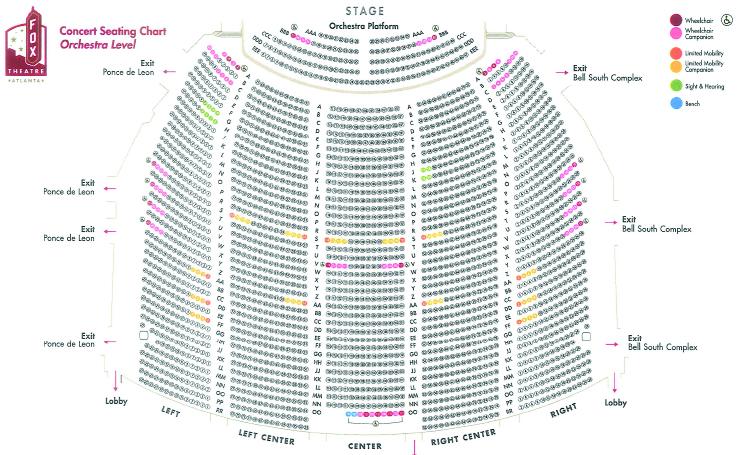 Fox theater atlanta seating chart fox theatre seating chart pdf