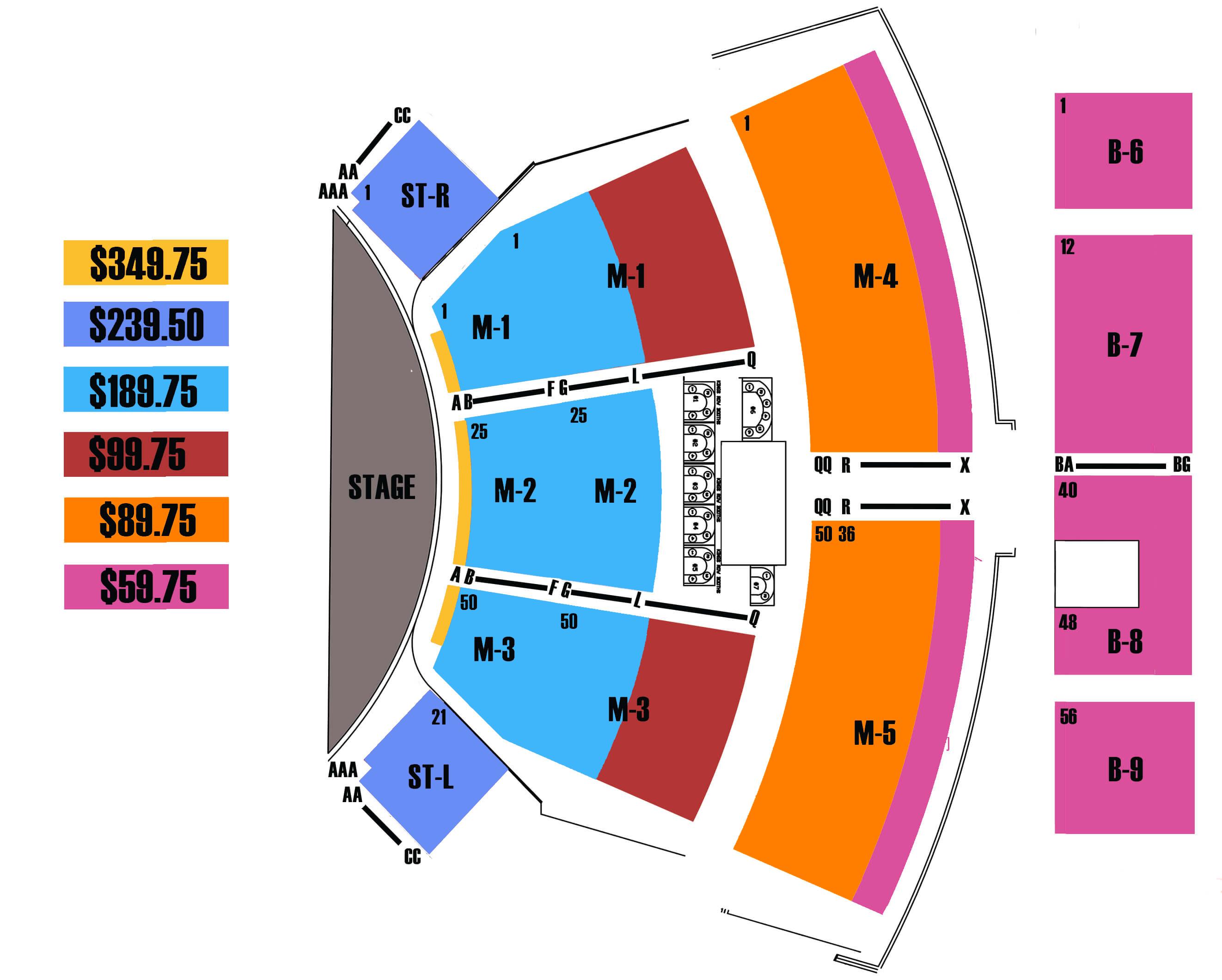 Manilow Las Vegas Seating Chart: Westgate