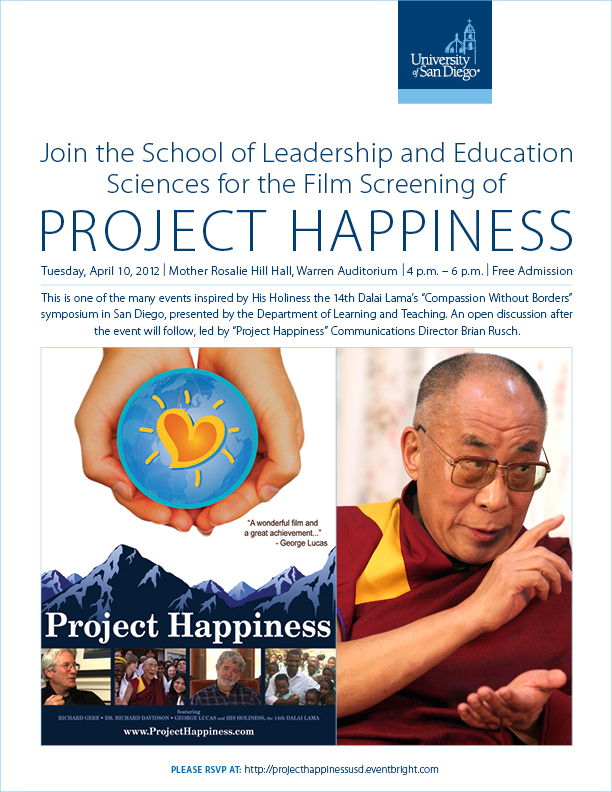 Project Happiness Event Flyer