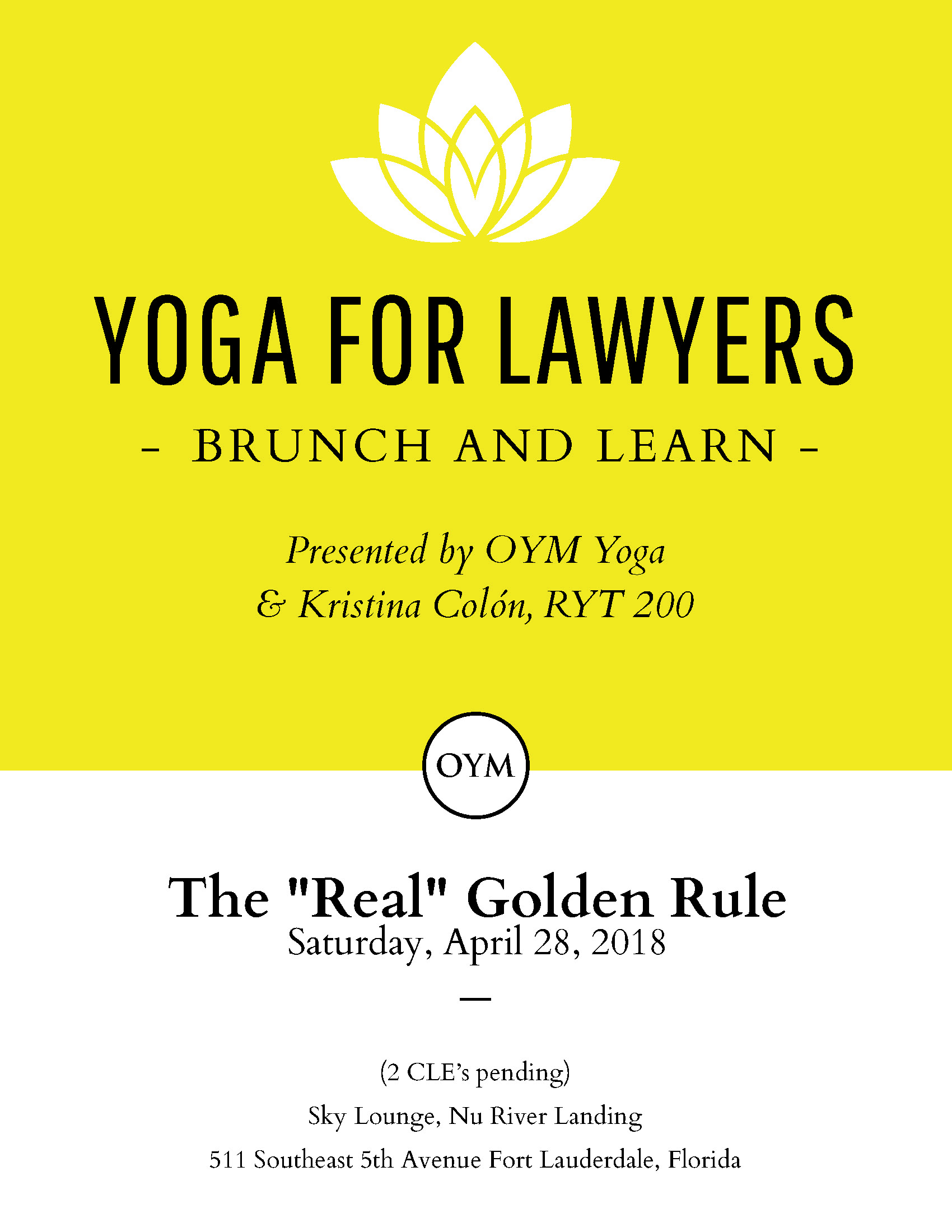 Yoga For Lawyers Brunch and Learn