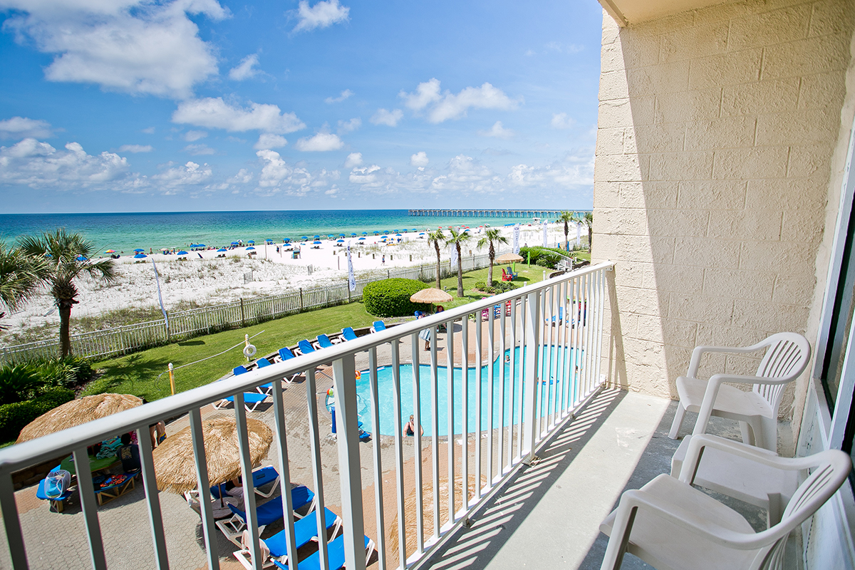 Room View from balcony overlooking the gulf.