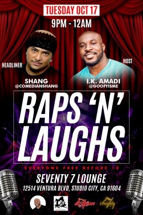 Raps N Laughs front