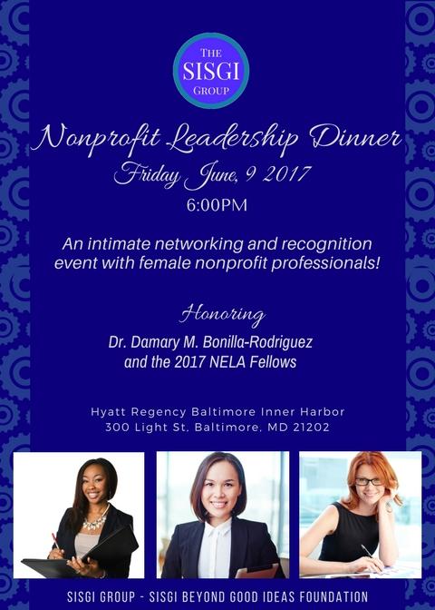 Nonprofit Leadership Dinner Invite