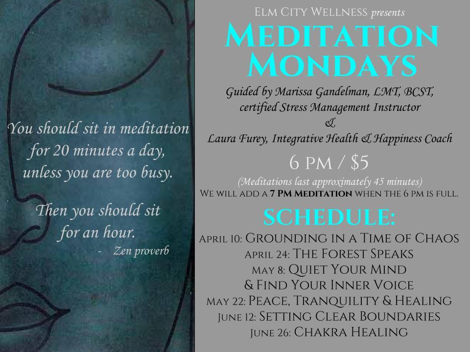 Meditation Monday Calendar