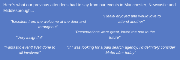 Mabo Event Reviews