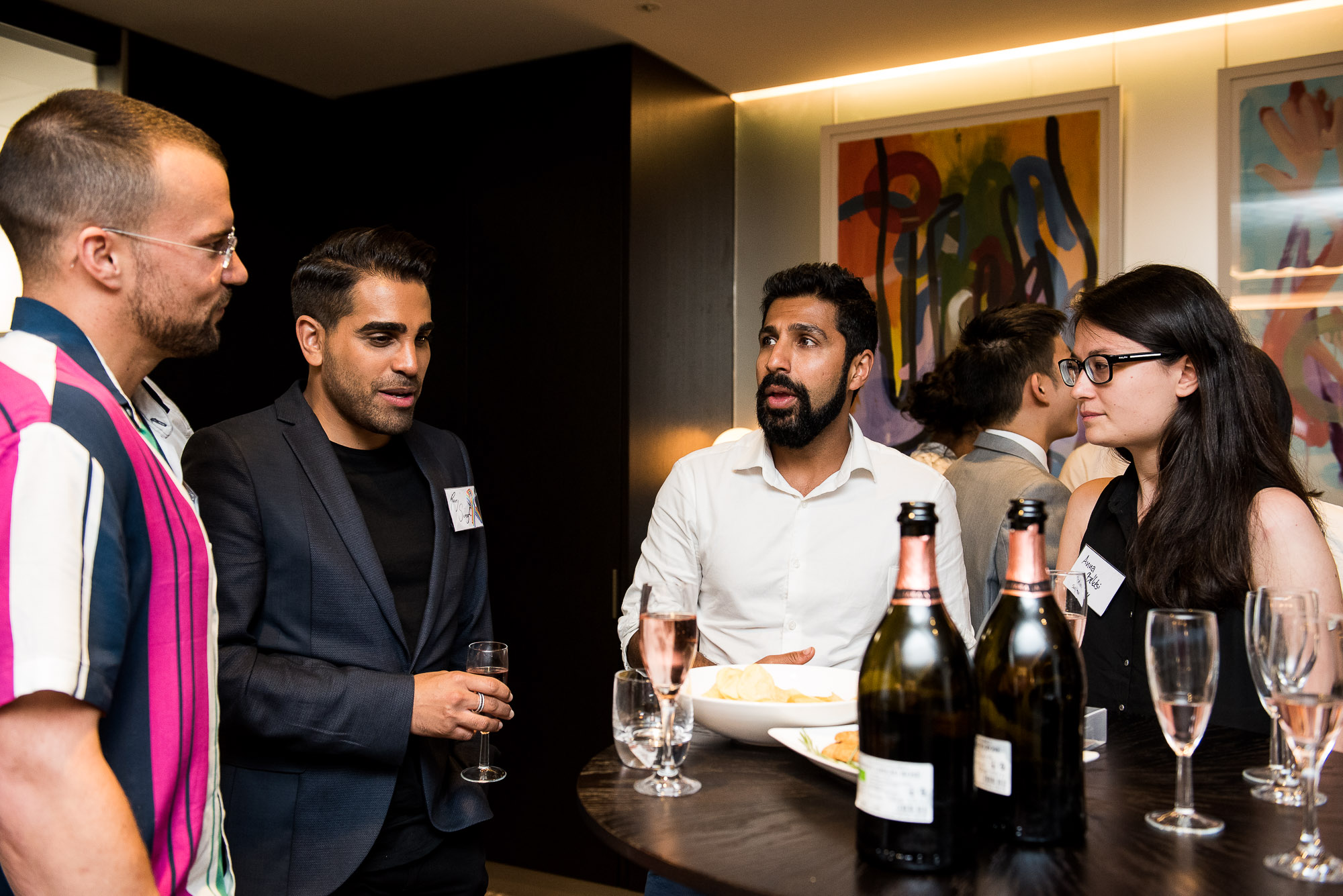 Mentors and mentees talking at the 2018 launch