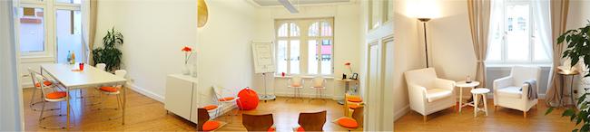 3 Räume zum mieten für Workshops, Meetings und Coachings