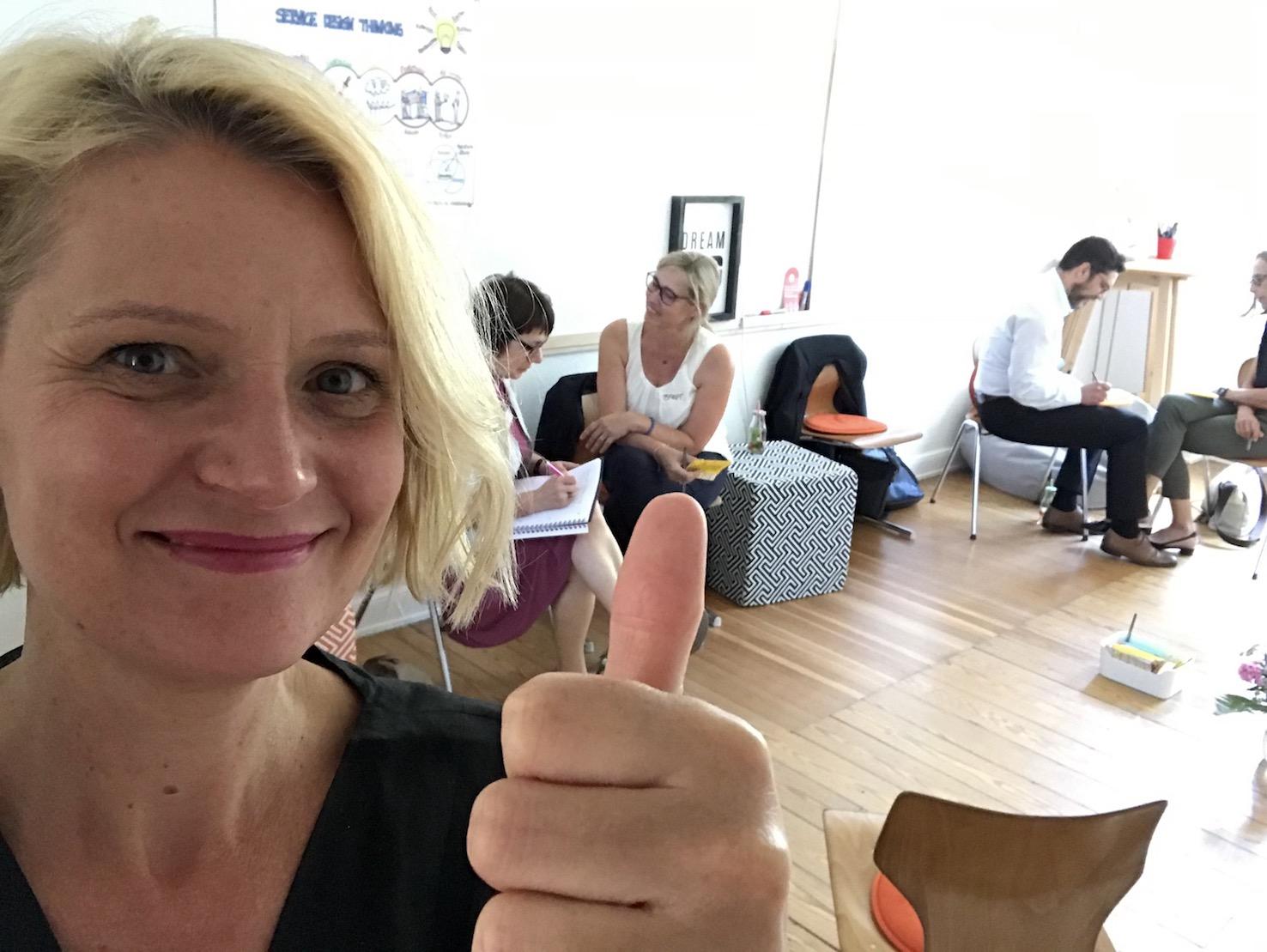Dorothee Wiebe beim Workshop