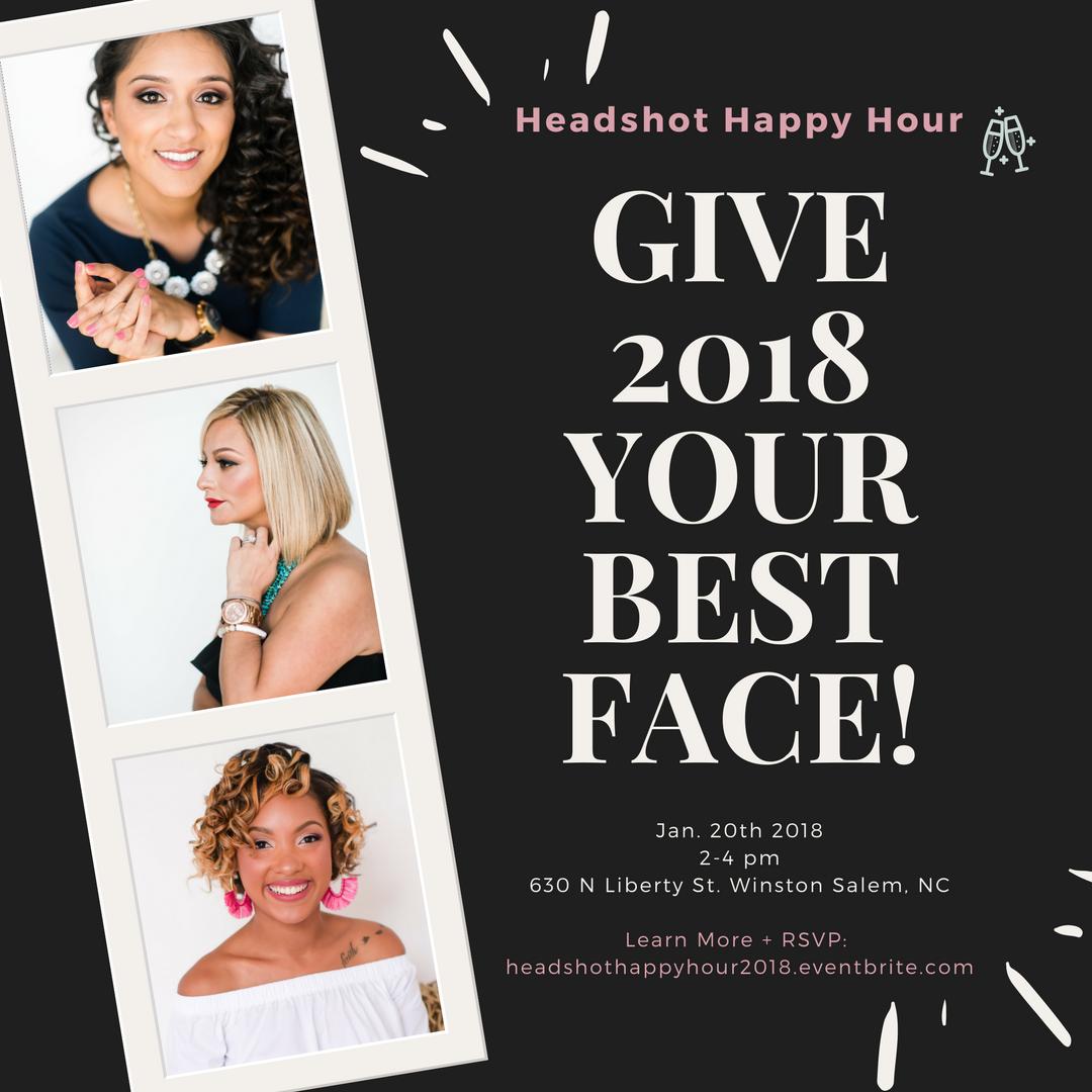 Headshot Happy Hour Winston Salem NC