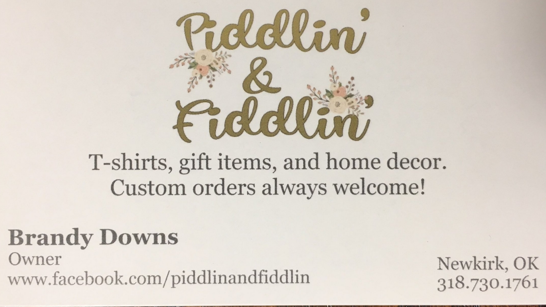 piddlinfiddlin