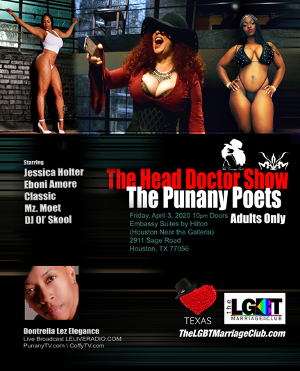 The Punany Poets in Houston, Texas with the LGBT Marriage Club Houston - Conference - The Head Doctor Show