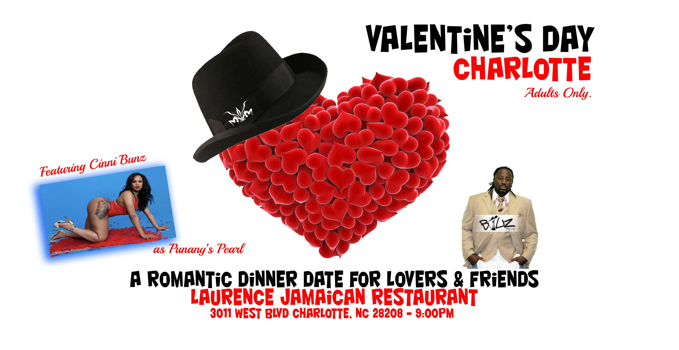 The Punany Poets in Charlotte, North Carolina on Valentine's Day