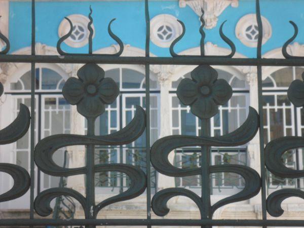 View of the details of the Museu de Arte Nova, Aveiro