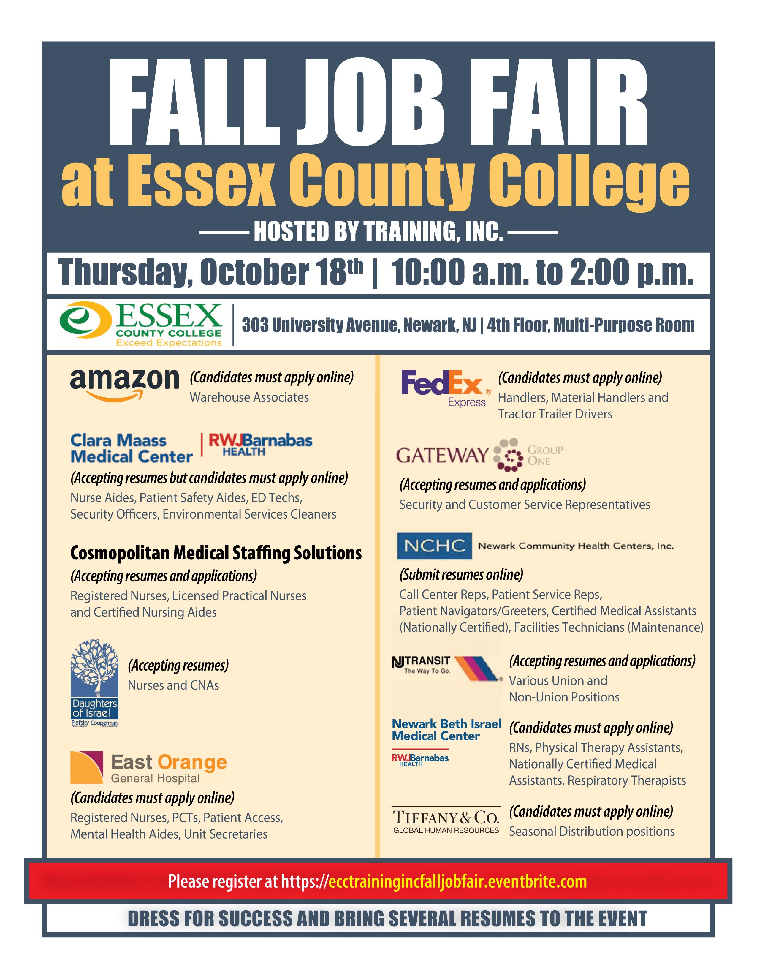 Fall Job Fair Tickets, Thu, Oct 18, 2018 at 10:00 AM   Eventbrite