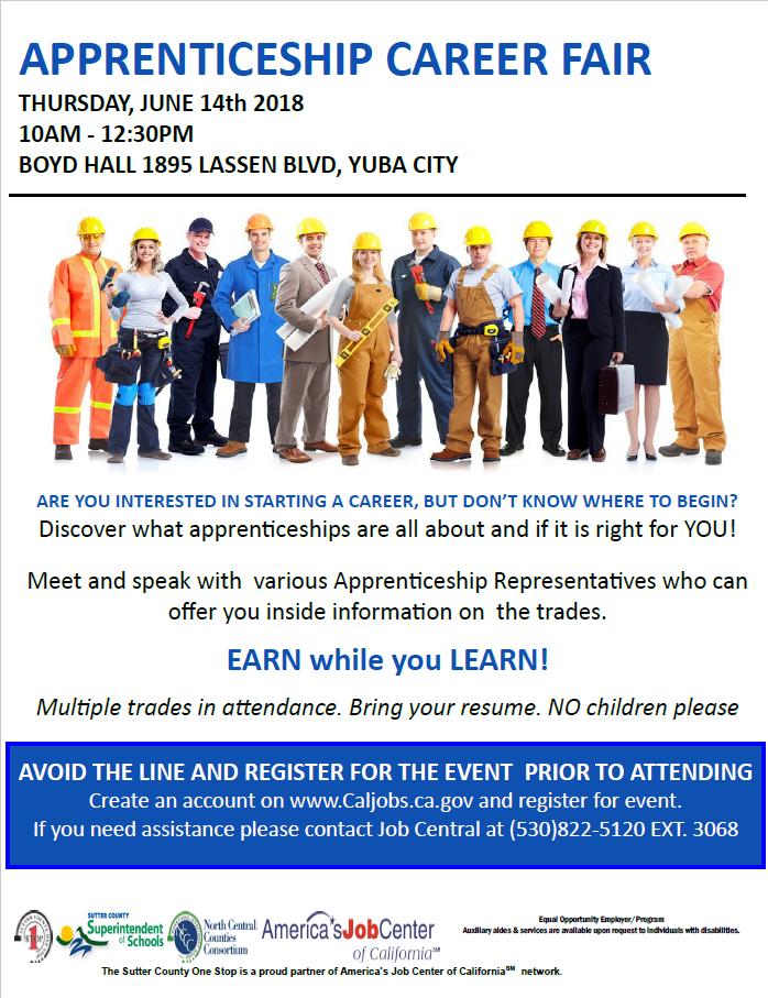Apprenticeship Career Fair 6/14/2018