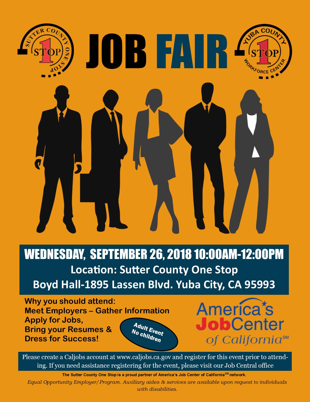 Sutter/Yuba County Fall Job Fair