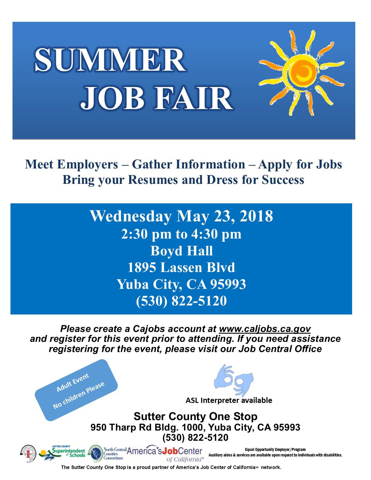 Yuba City Job Fair