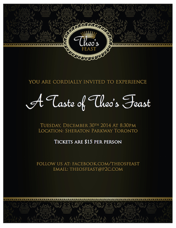 Theo's Feast invitation