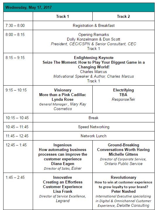 Conference Day 1 Agenda