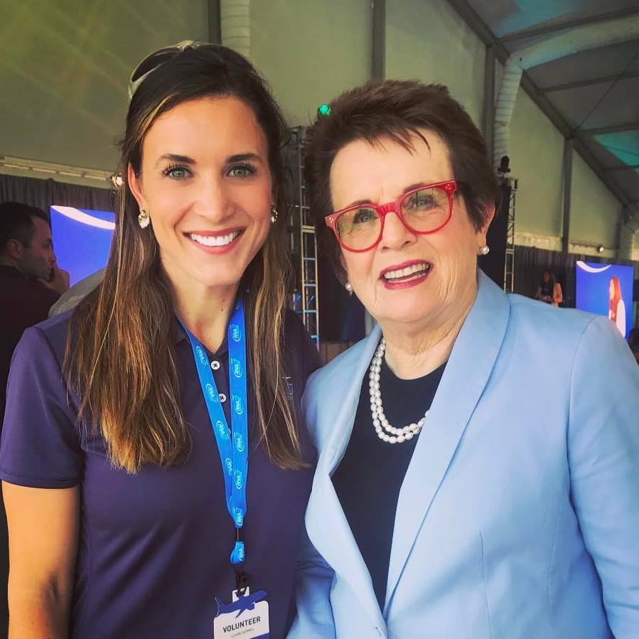 Claire and Billie Jean King