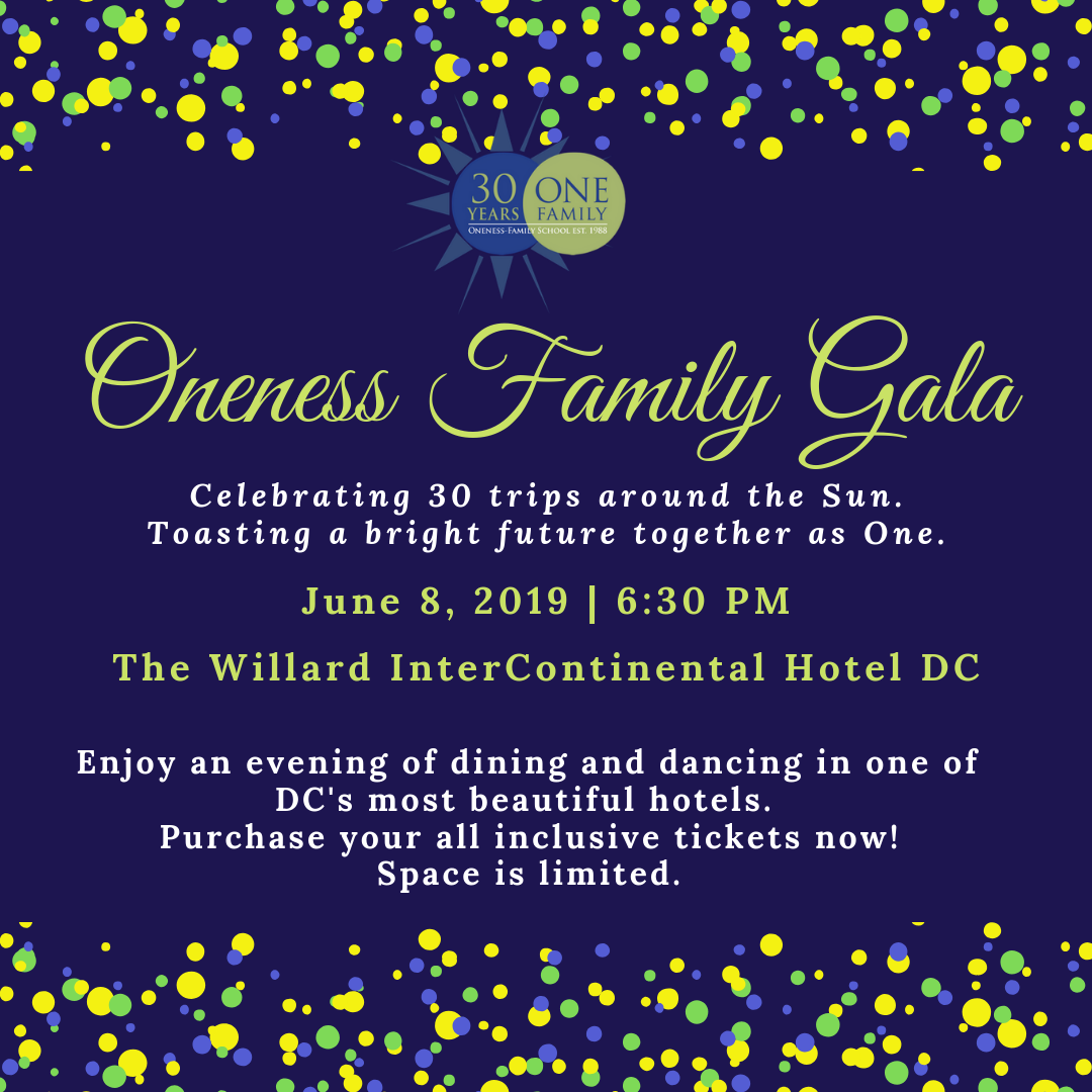 Oneness Family Gala June 8, 2019 Around the Sun