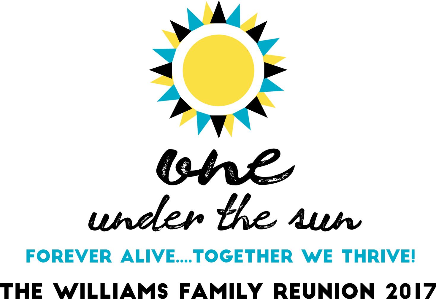 2017 Williams Family Reunion Logo and Theme - Orlando, FL