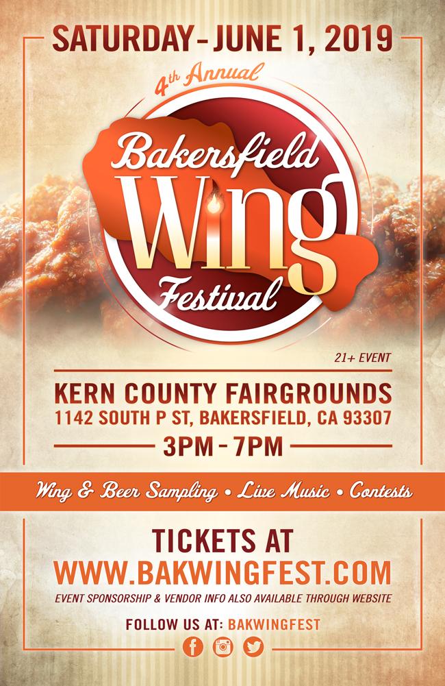 Bakersfield Wing Festival Flyer