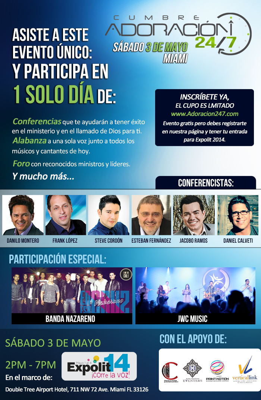 Cumbre Adoracion 24/7 en Miami 2014