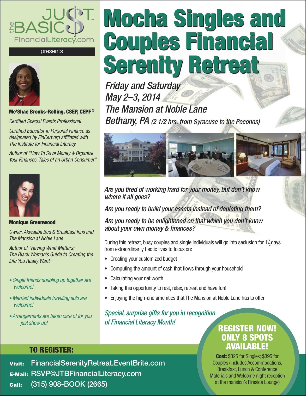 Financial Serenity Retreat Final Flyer