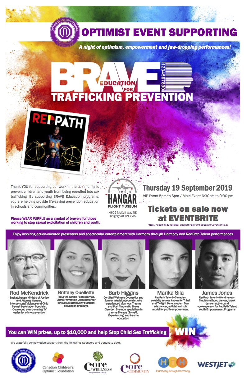 BRAVE Education for Trafficking Prevention Speakers