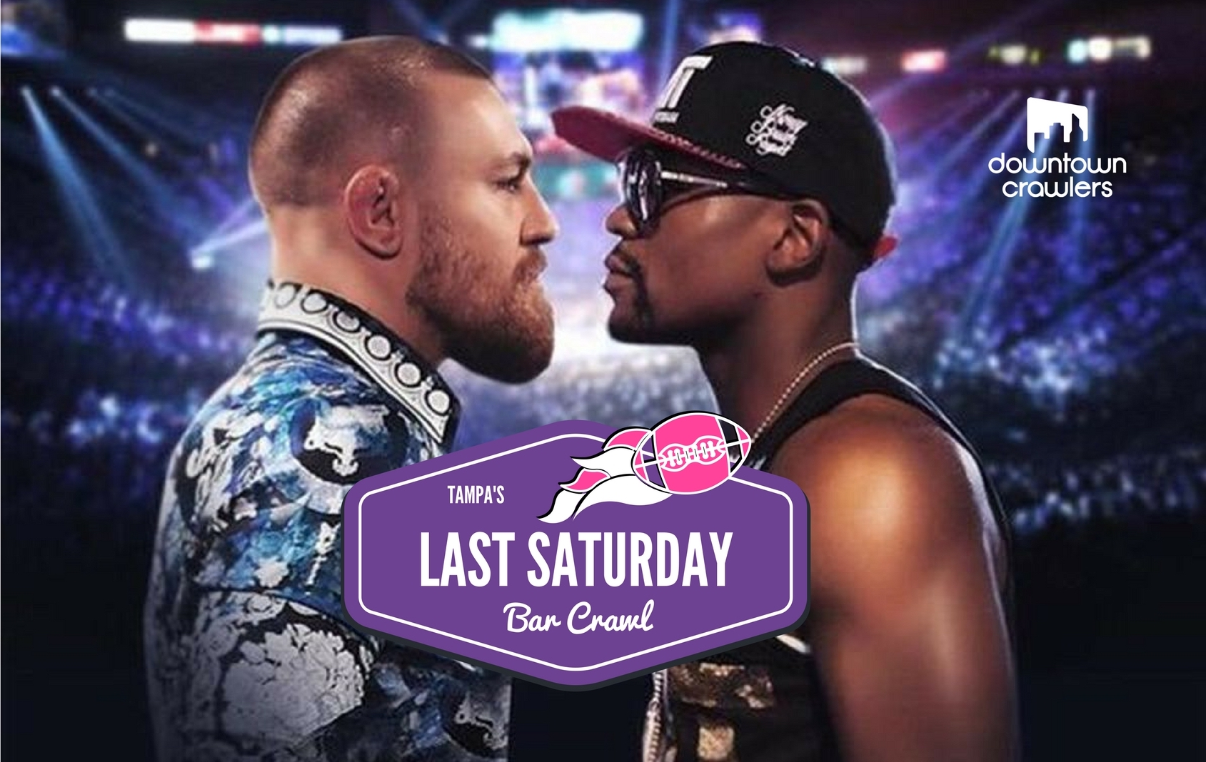 Mayweather McGregor VIP watch party Downtown Crawlers