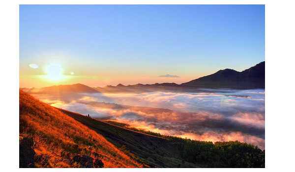 Sunset at Mount Batur