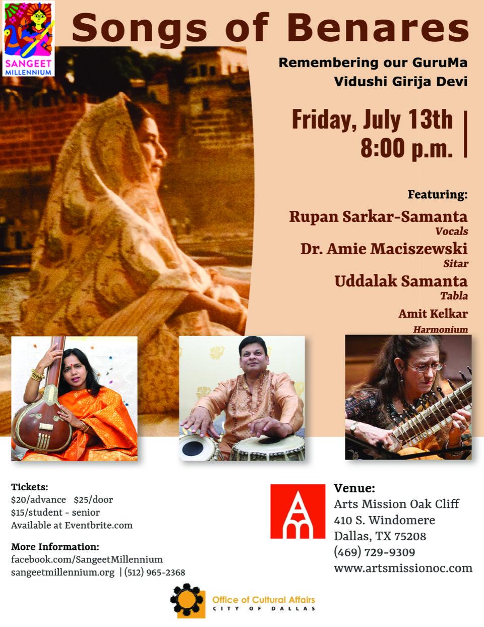 Songs of Benares flyer