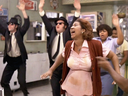 Aretha Franklin stars in The Blues Brothers